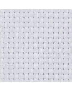 Aida broderiväv, stl. 50x50 cm, 35 rutor per 10 cm, vit, 1 st.