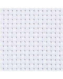 Aidatyg, stl. 50x50 cm, 35 rutor per 10 cm, vit, 1 st.