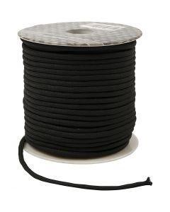 Knytsnöre, tjocklek 4 mm, svart, 40 m/ 1 rl.