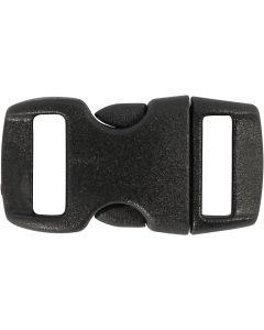 Klicklås, L: 29 mm, B: 15 mm, Hålstl. 3x11 mm, svart, 4 st./ 1 förp.
