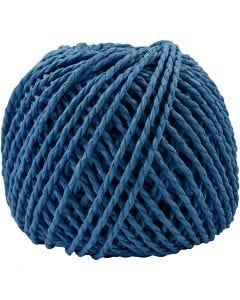 Paperyarn, tjocklek 2,5-3 mm, mörkblå, 40 m/ 1 nystan, 150 g
