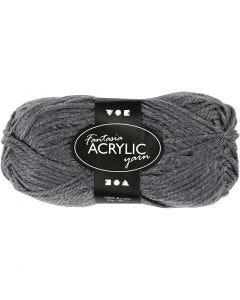Fantasia Akrylgarn, L: 80 m, grå, 50 g/ 1 nystan