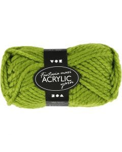 Fantasia Akrylgarn, L: 35 m, stl. maxi , grön, 50 g/ 1 nystan