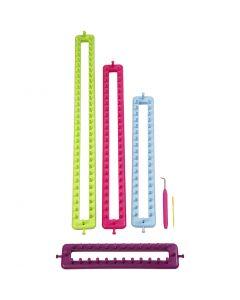 Stickringar, L: 25-35-45-55 cm, 1 set