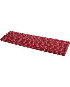 Tyg, B: 145 cm, 140 g, röd/vit, 10 m/ 1 rl.