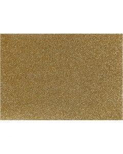 Stryktyg, 148x210 mm, glitter, guld, 1 ark