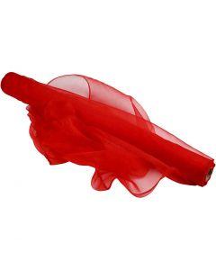 Organzatyg, B: 50 cm, röd, 10 m/ 1 rl.