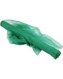 Organzatyg, B: 50 cm, grön, 10 m/ 1 rl.