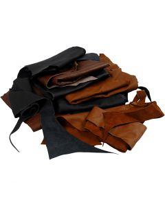 Äkta läder, mixade färger, 2 kg/ 1 förp.