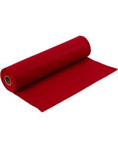 Hobbyfilt, B: 45 cm, tjocklek 1,5 mm, 180-200 g, gml. röd, 5 m/ 1 rl.