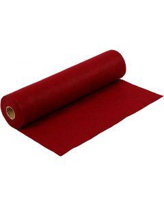 Hobbyfilt, B: 45 cm, tjocklek 1,5 mm, Melerad, 180-200 g, röd, 5 m/ 1 rl.