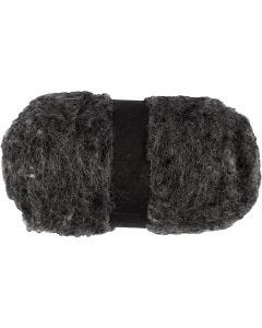 Kardad ull, naturgrå, 100 g/ 1 bunt