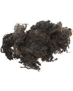 Naturull/krullig ull, mörkgrå, 100 g/ 1 bunt