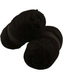 Kardad ull, svart, 2x100 g/ 1 förp.