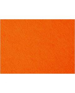 Hobbyfilt, 42x60 cm, tjocklek 3 mm, orange, 1 ark