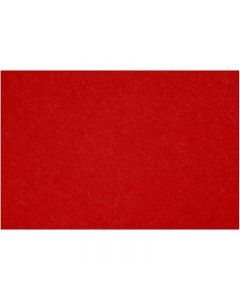 Hobbyfilt, 42x60 cm, tjocklek 3 mm, röd, 1 ark