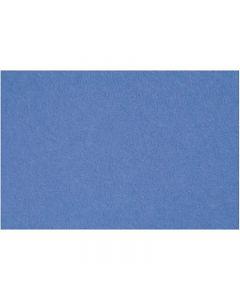 Hobbyfilt, 42x60 cm, tjocklek 3 mm, blå, 1 ark