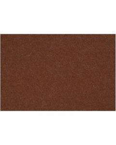 Hobbyfilt, 42x60 cm, tjocklek 3 mm, brun, 1 ark