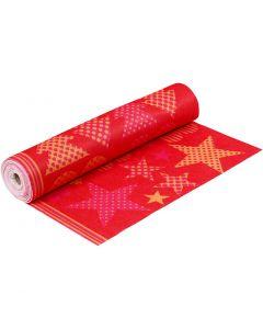 Motivfilt, B: 45 cm, tjocklek 1,5 mm, 180-200 g, orange, röd, 5 m/ 1 rl.