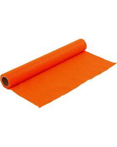 Hobbyfilt, B: 45 cm, tjocklek 1,5 mm, 180-200 g, orange, 1 m/ 1 rl.