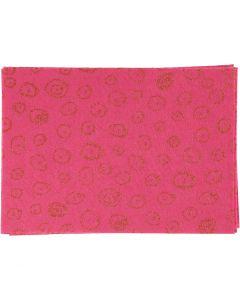 Hobbyfilt, A4, 210x297 mm, tjocklek 1 mm, rosa, 10 ark/ 1 förp.