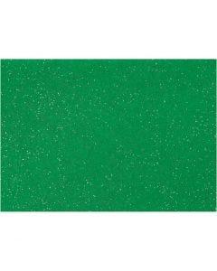 Hobbyfilt, A4, 210x297 mm, tjocklek 1 mm, grön, 10 ark/ 1 förp.