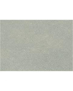 Hobbyfilt, A4, 210x297 mm, tjocklek 1 mm, grå, 10 ark/ 1 förp.