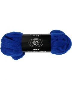 Merinoull, tjocklek 21 my, kungsblå, 100 g/ 1 förp.
