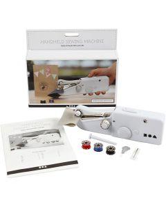 Handhållen symaskin, H: 6,7 cm, L: 20,5 cm, B: 3,5 cm, vit, 1 st.