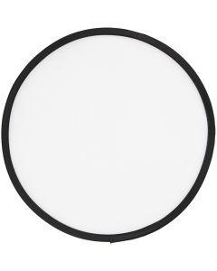 Frisbee, Dia. 25 cm, vit, 1 st.