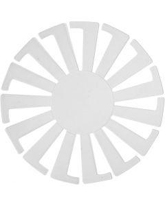 Fläta enkelt schablon, H: 6 cm, Dia. 8 cm, transparent, 10 st./ 1 förp.
