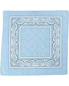 Bandana, stl. 55x55 cm, ljusblå, 1 st.