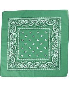 Bandana, stl. 55x55 cm, mörkgrön, 1 st.