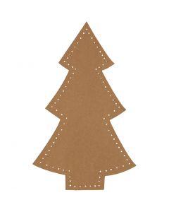Julgran, H: 18 cm, B: 11 cm, 350 g, natur, 4 st./ 1 förp.