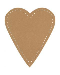 Hjärta, H: 12 cm, B: 10 cm, 350 g, natur, 4 st./ 1 förp.