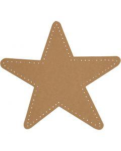 Stjärna, Dia. 17 cm, 350 g, natur, 4 st./ 1 förp.