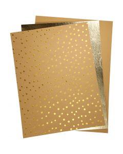 Läderpapper, 21x27,5+21x28,5+21x29,5 cm, tjocklek 0,55 mm, enfärgad,folie,tryck, 3 ark/ 1 förp.