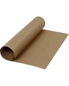 Läderpapper, B: 50 cm, enfärgad, 350 g, mörkbrun, 1 m/ 1 rl.