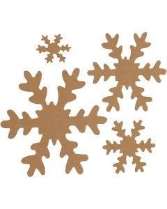 Snöflingor, Dia. 3+5+8+10 cm, 350 g, natur, 16 st./ 1 förp.
