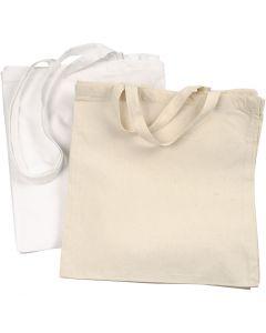 Textilkasse, 135 g, vit, ljusnatur, 2x10 st./ 1 förp.