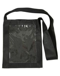 Väska med plastfront, stl. 40x34x8 cm, svart, 1 st.