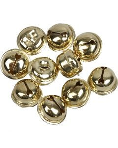 Bjällror, Dia. 13+15+17 mm, guld, 12 mix./ 1 förp.