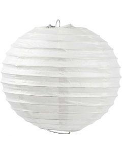 Papperslampa, Rund, Dia. 20 cm, vit, 1 st.
