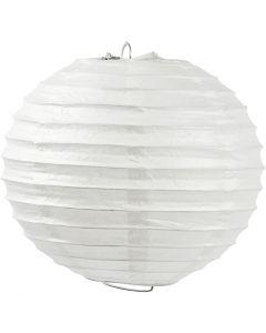 Papperslampa, Rund, Dia. 35 cm, vit, 1 st.