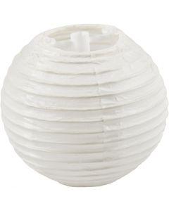 Papperslampa, Dia. 7,5 cm, vit, 10 st./ 1 förp.