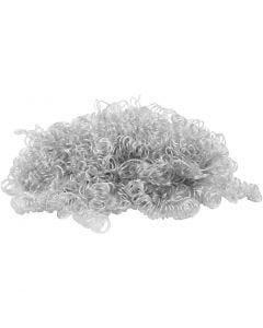 Krulligt dockhår, ljusgrå, 15 g/ 1 förp.