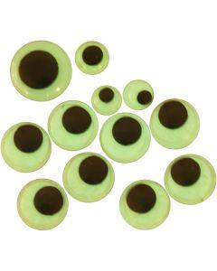 Rullögon, självhäftande, Dia. 8+10+14 mm, 30 mix./ 1 förp.