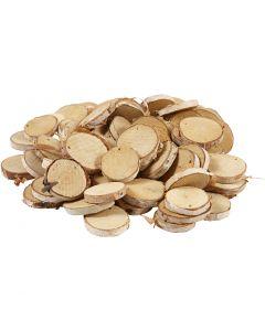Träskivor med hål, Dia. 35-45 mm, Hålstl. 4 mm, tjocklek 7 mm, 500 g/ 1 förp.