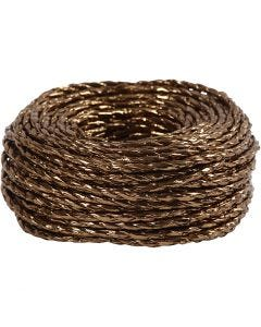 Paper Yarn, tjocklek 3,5-4 mm, koppar, 25 m/ 1 rl.