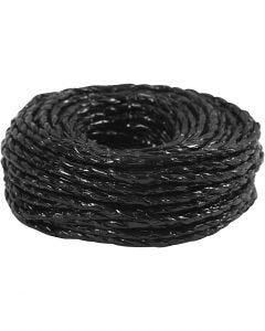 Paper Yarn, tjocklek 3,5-4 mm, svart, 25 m/ 1 rl.